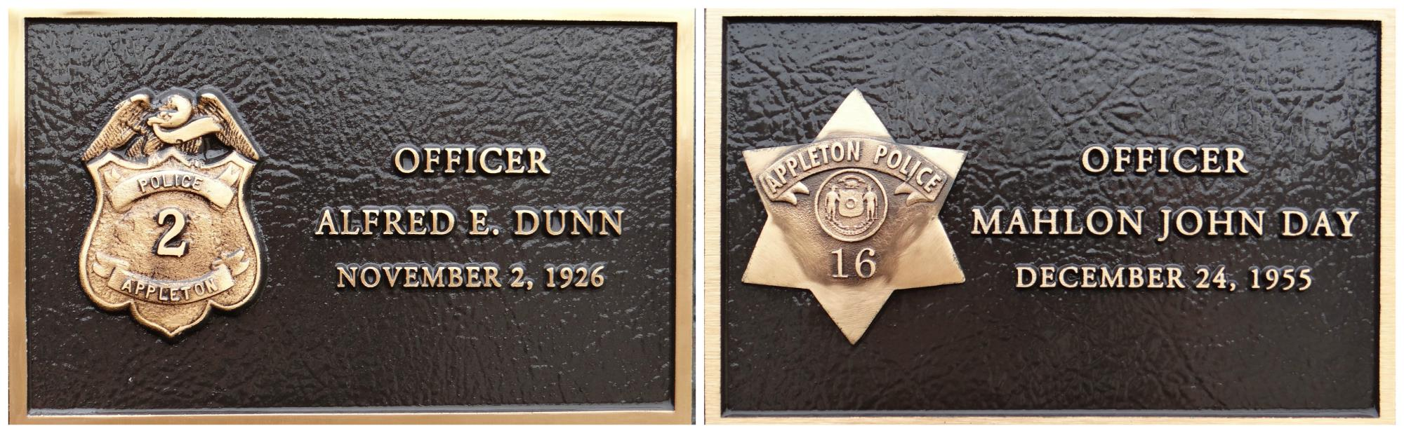 Collage of Dunn and Day Plaques