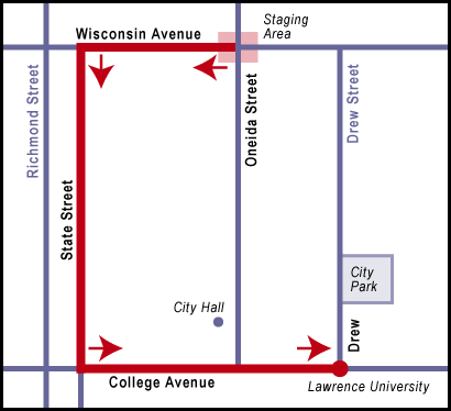 2016 Flag Day Parade Route