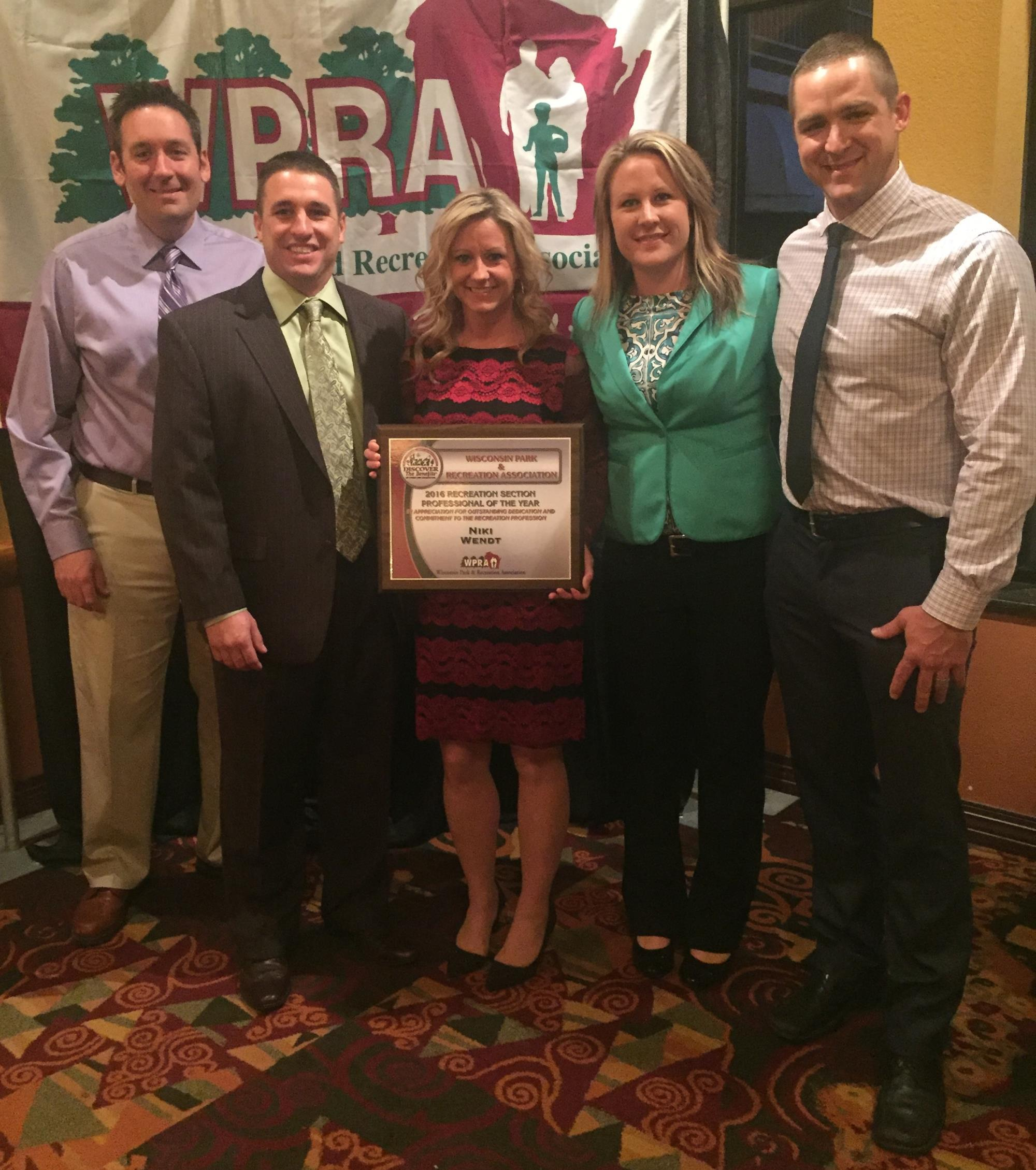 Appleton recreation manager recognized with statewide honor